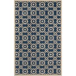 Hand-tufted 'Grandeur' Blue Wool Rug (3'3 x 5'3)
