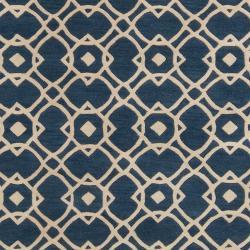 Hand-tufted 'Grandeur' Blue Wool Rug (8' x 11') - Thumbnail 2
