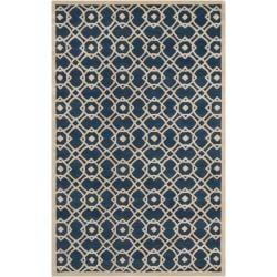 Hand-tufted 'Grandeur' Blue Wool Area Rug (8' x 11') - Thumbnail 0