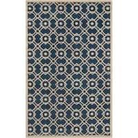 Hand-tufted 'Grandeur' Blue Wool Area Rug (8' x 11')