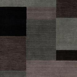 Loomed 'Lunan' Grey Geometric Patches Wool Rug (3'3 x 5'3)