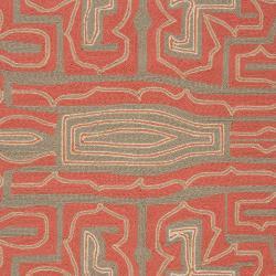 Hand-hooked 'Yarra' Grey Indoor/Outdoor Geometric Rug (5' x 8') - Thumbnail 2