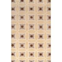 Hand-knotted 'Diego Martin' Brown Wool Area Rug - 9' x 13'
