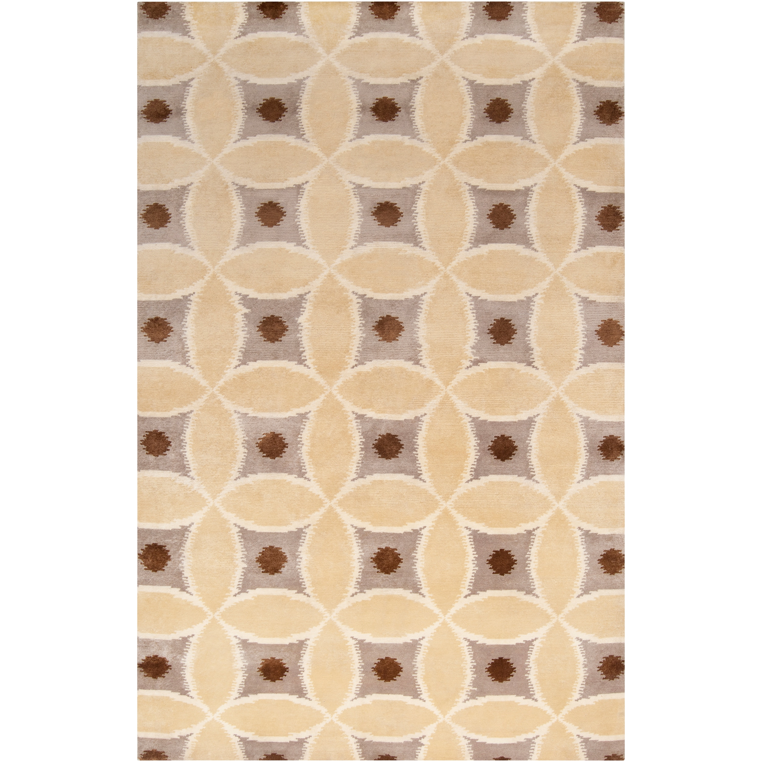 Hand-knotted 'Diego Martin' Brown Wool Area Rug (8' x 11')