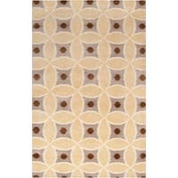 Hand-knotted 'Diego Martin' Brown Wool Area Rug - 8' X 11'