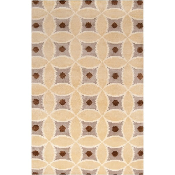 Hand-knotted 'Diego Martin' Brown Wool Area Rug - 5' x 8'