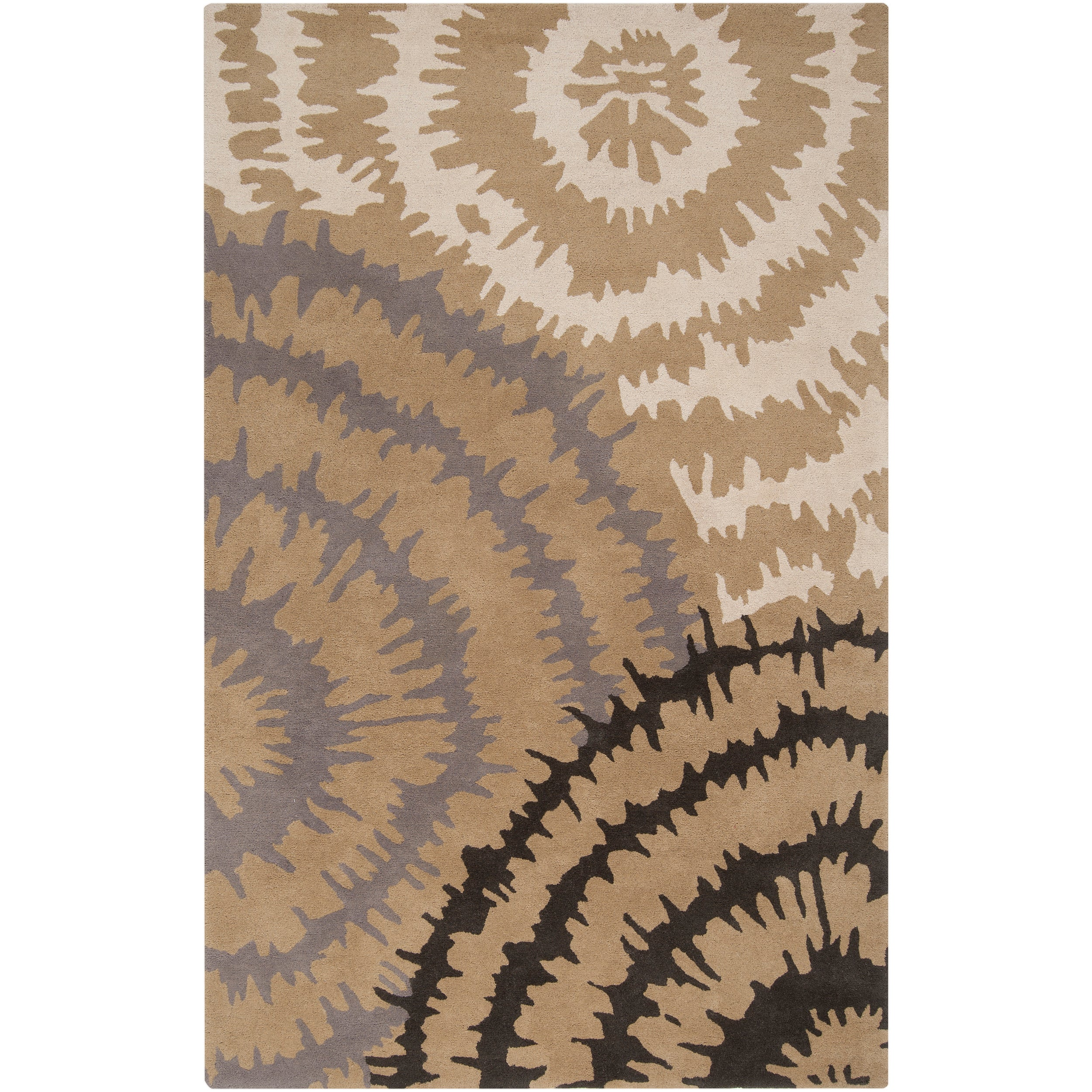 Hand-tufted 'Diego Martin' Gray Abstract Plush Wool Area Rug (9' x 12')