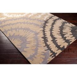 Hand-tufted 'Diego Martin' Gray Abstract Plush Wool Rug (9' x 12') - Thumbnail 1