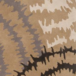 Hand-tufted 'Diego Martin' Gray Abstract Plush Wool Rug (9' x 12') - Thumbnail 2