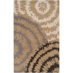 Hand-tufted 'Diego Martin' Gray Abstract Plush Wool Area Rug (9' x 12') - Thumbnail 0
