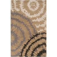 Hand-tufted 'Diego Martin' Gray Abstract Plush Wool Area Rug - 9' x 12'