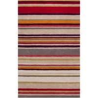 Hand-tufted 'Diego Martin' Purple Striped Wool Area Rug - 9' x 12'