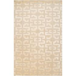 Hand-knotted 'Diego Martin' Tan Wool Area Rug (5' x 8') - Thumbnail 0