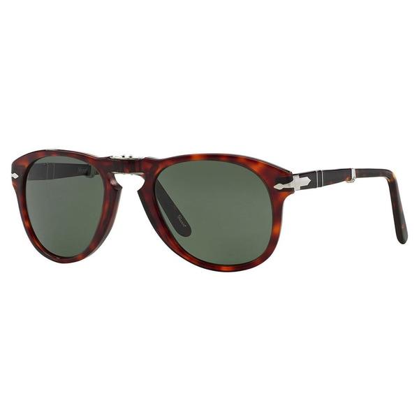 Persol Men's PO 714 Steve Mcqueen 24/31 Havana Foldable Plastic Sunglasses