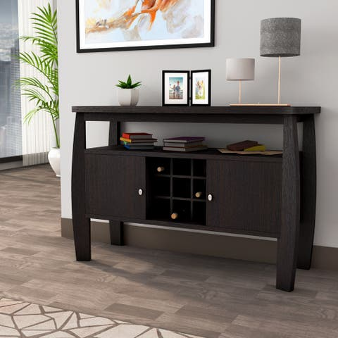 Furniture of America True Modern Brown 51-inch 2-cabinet Buffet Table