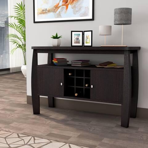 Furniture of America True Modern Brown 51-inch 2-cabinet Buffet Table