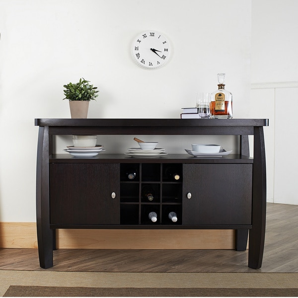 Shop Furniture of America Zarina Dark Espresso Buffet Table - On ...