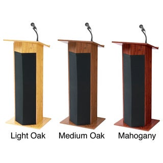 Power Plus Lectern with Wireless Mic (2 options available)