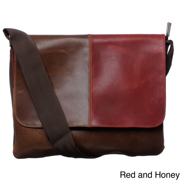 Leather Flap-top Messenger Bag (Colombia)