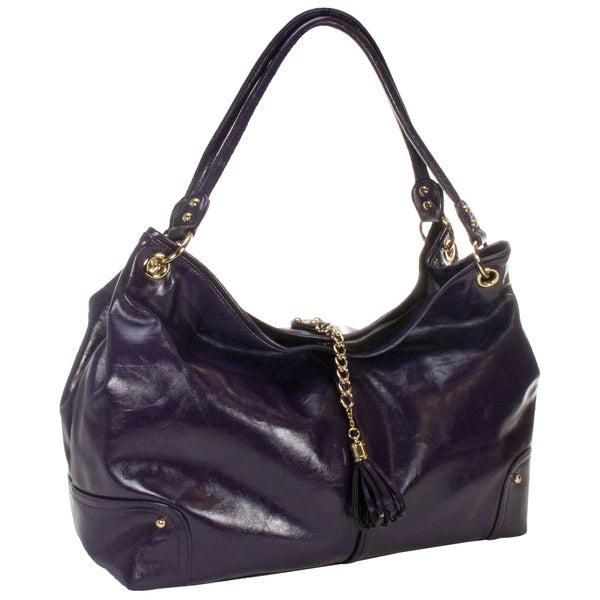 Amy Michelle Magnolia Plum Diaper Bag