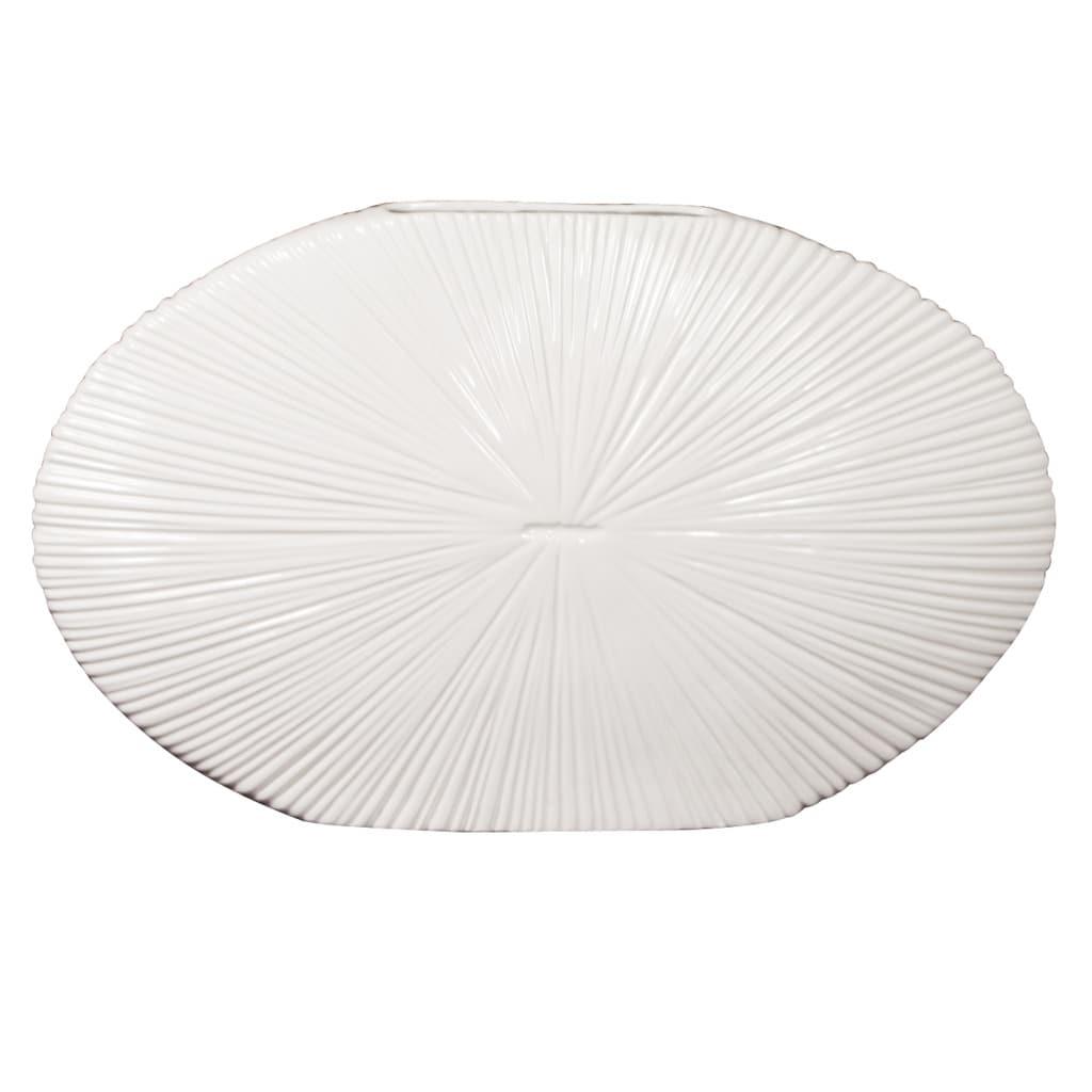 White 12-inch Ceramic Vase
