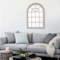 Windowpane Taupe Mirror - weathered taupe