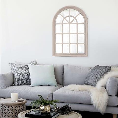 Windowpane Taupe Wall Mirror