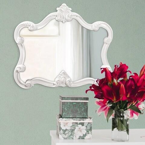 Glossy White Veruca Mirror - Glossy White