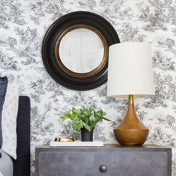 Albert Convex Black Accent Mirror. Opens flyout.