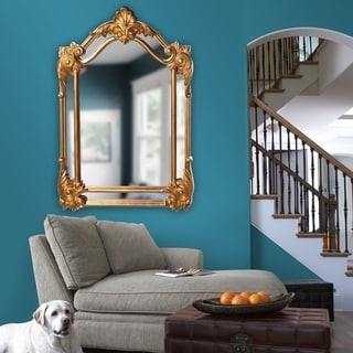 Cortland Antique Gold Leaf Wall Mirror