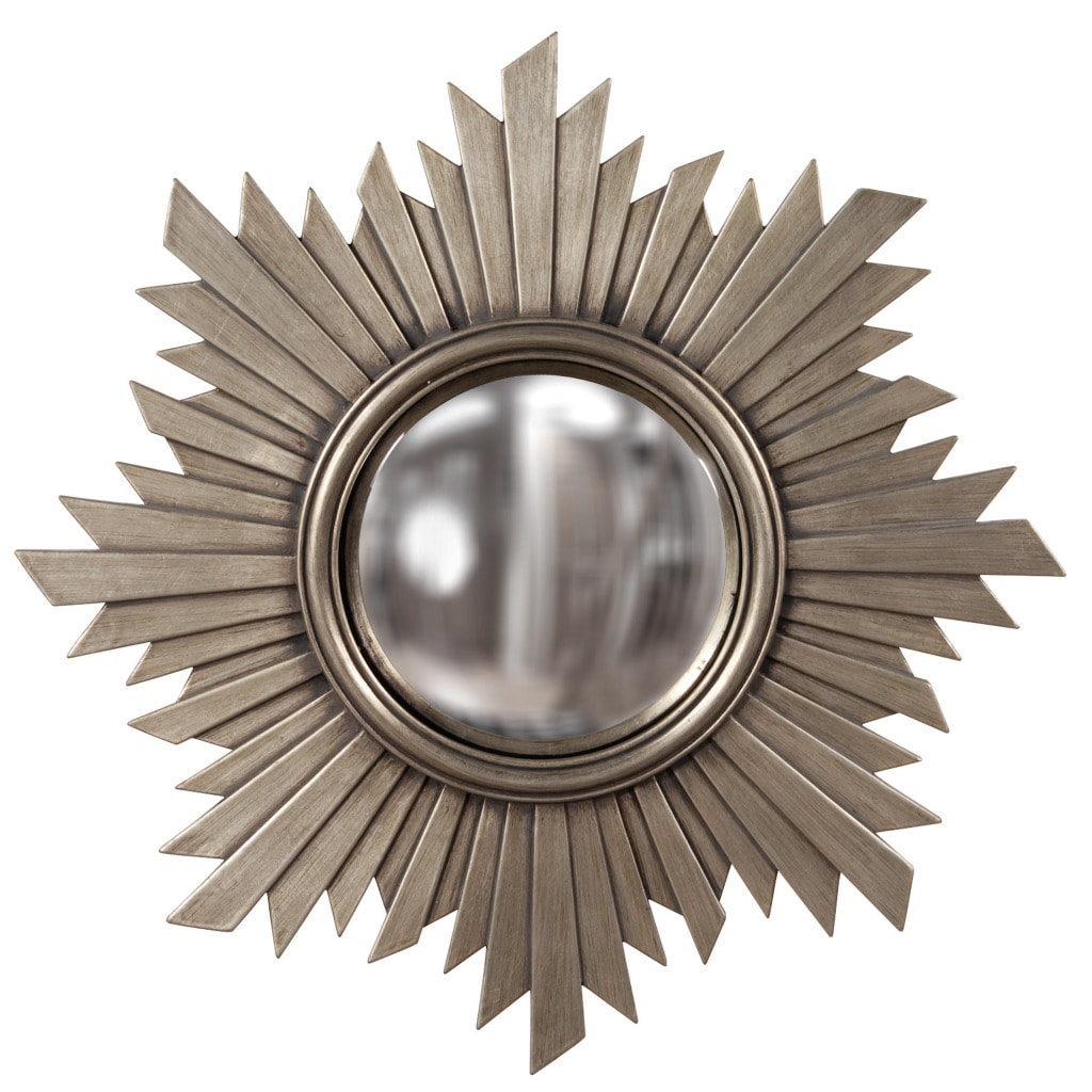 Convex Brushed Aged Nickel Mirror - Thumbnail 0