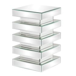 Stepped 20-inch Glass Mirror Pedestal