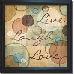 N. Harbick 'Live Laugh Love' Framed Canvas Art