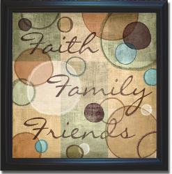 N. Harbick 'Faith Family Friends' Framed Canvas Art