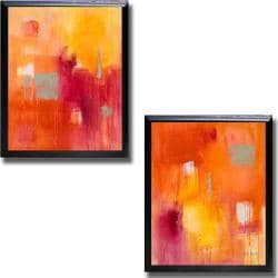 Lanie Loreth 'Summer Song I and II' Framed 2-piece Canvas Art Set