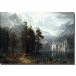 Albert Bierstadt 'Sierra Nevada in California' Canvas Art