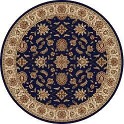 Admire Home Living Amalfi Round Oriental Area Rug (5'3) - 5'3 (2 options available)