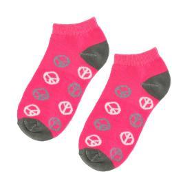 Julietta Women's Peace Sign Ankle Socks - Thumbnail 2
