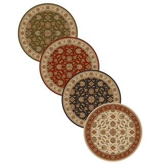 Admire Home Living Amalfi Oriental Area Rug (8' Round) - 8' x 8'