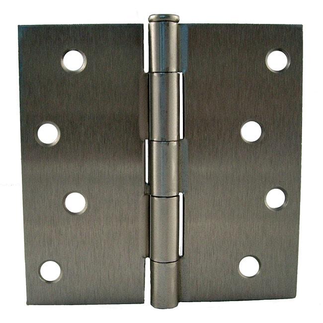 GlideRite 4-inch Square Corner Satin Nickel Hinges (Pack of 12)