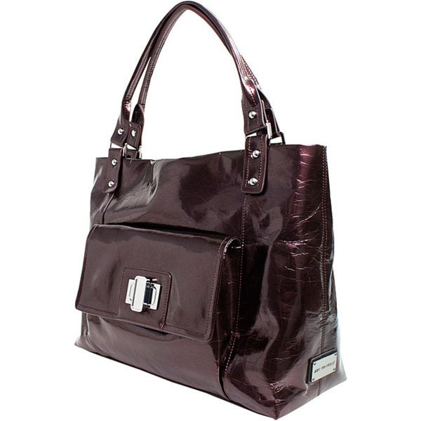 Amy Michelle Cosmo Pearlized Chocolate Diaper Bag