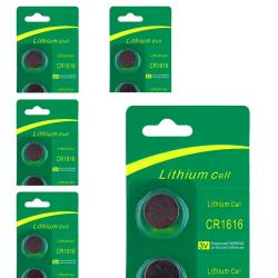 INSTEN Lithium Battery CR1616 (Pack of 5)|https://ak1.ostkcdn.com/images/products/6766288/79/930/Lithium-Battery-CR1616-Pack-of-5-P14307265.jpg?impolicy=medium