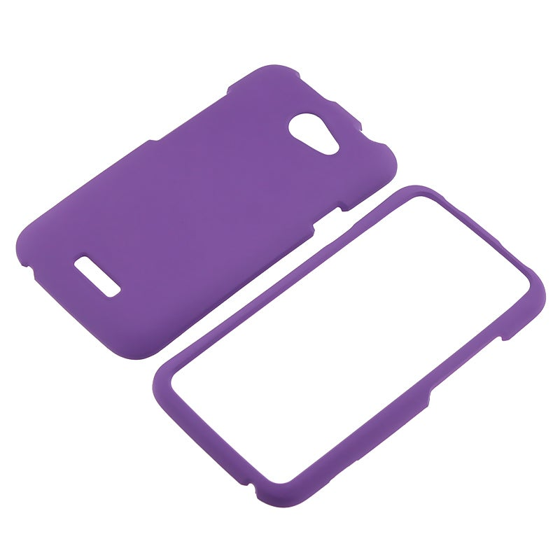Purple Snap-on Rubber Coated Case for HTC One X