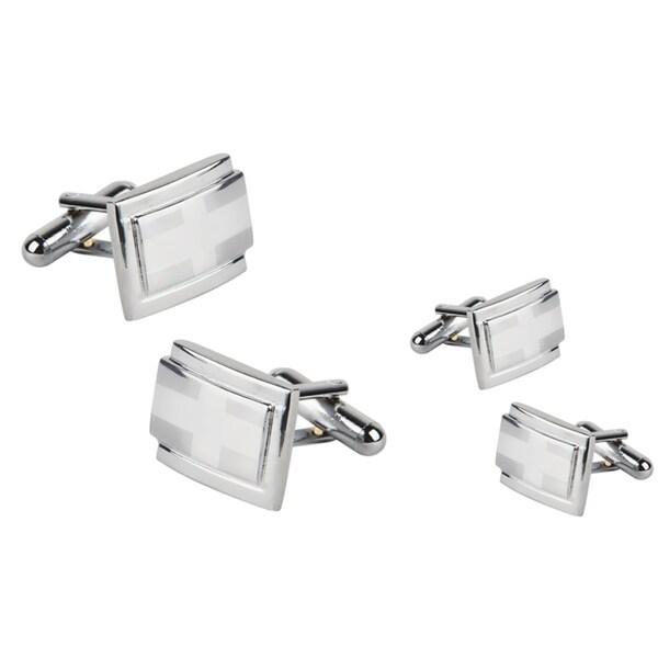 Zodaca Silver Rectangle Version 2 Cufflinks (Set of 2)