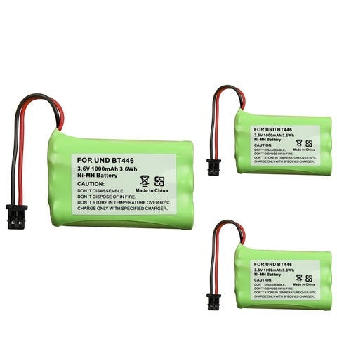 INSTEN Compatible Cordless Phone Battery for Uniden BT-446 (Pack of 3)