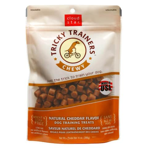 Cloudstar Dog Tricky Trainer 14-ounce Chewy Cheese Treats