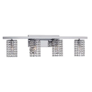 The Lighting Store Round Shade Chrome and Crystal Wall Sconce