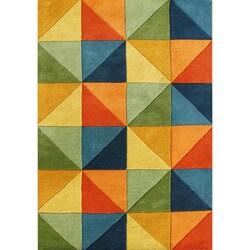 Alliyah Handmade Multi-Colored New Zealand Blend Wool Rug (5 x 8)