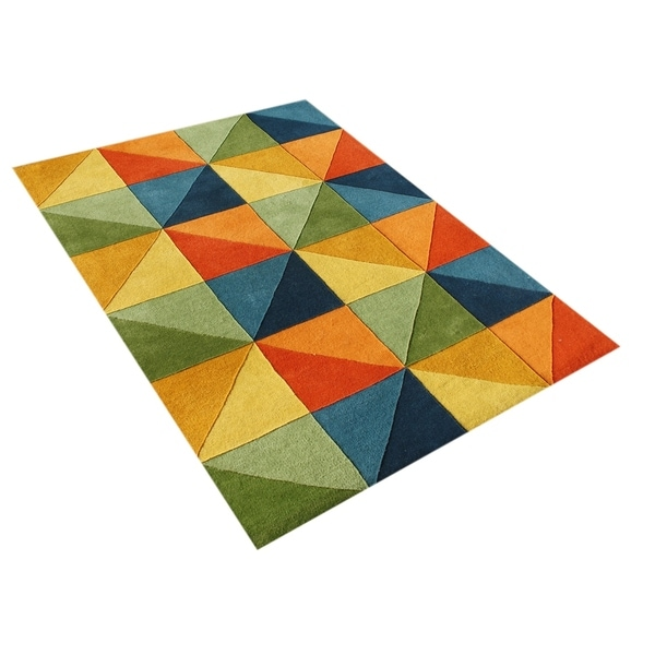 Alliyah Handmade Multi-Colored New Zealand Blend Wool Rug - 5' x 8'