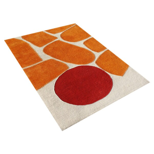 Alliyah Handmade Sand New Zealand Blend Wool Rug (8 x 10)
